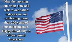 USA independence day images message