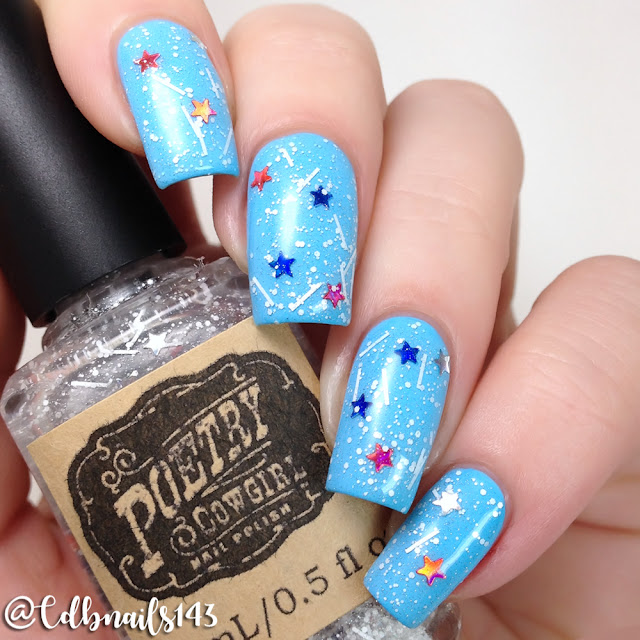 Poetry Cowgirl Nail Polish-Stars & Stripes
