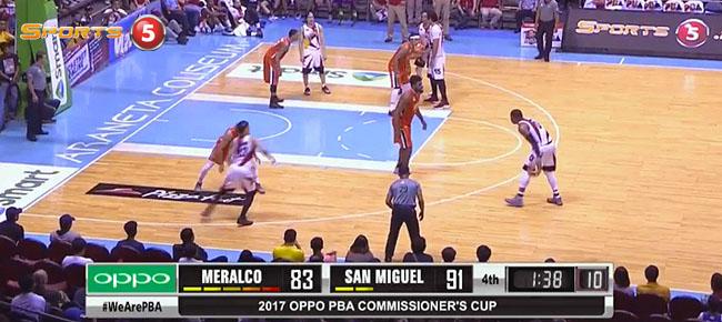 San Miguel def. Meralco, 99-92 (REPLAY VIDEO) April 2