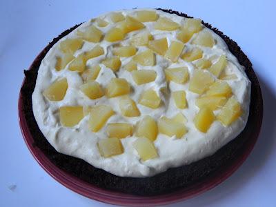 Tort cu crema de mango si ananas