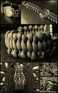 'Surreal Solomon Bar' paracord watchband.