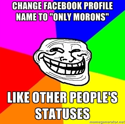 """Trollface """"Only Morons"""""""