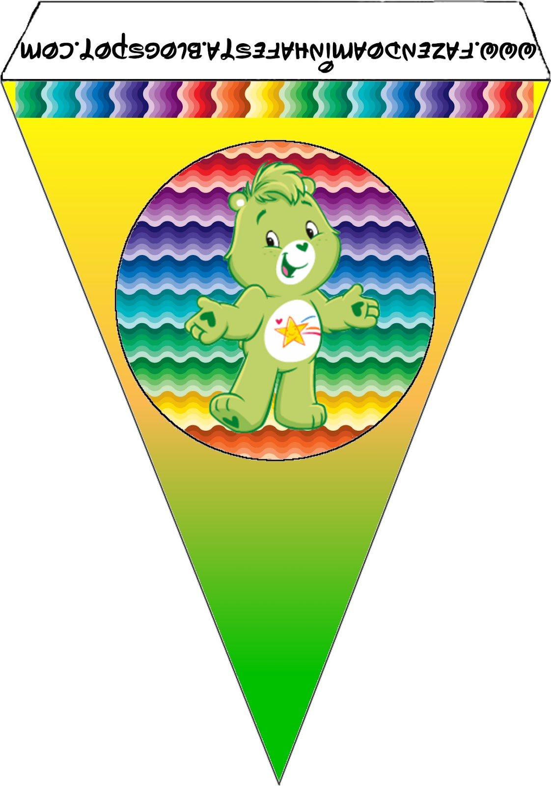 Care Bears With Rainbow Free Party Printables
