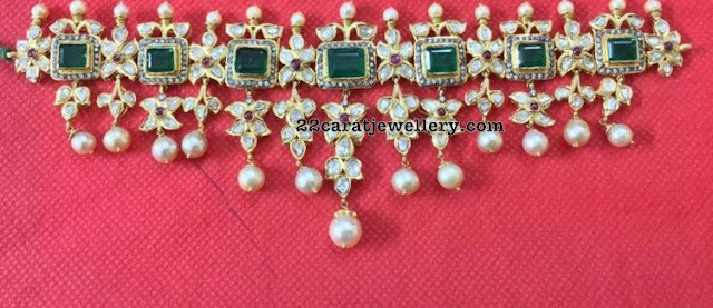 Square Emerald Pachi Necklaces