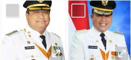 Bupati Labura Kharuddin Syah Sitorus dan Bupati Labusel Wildan Aswan Tanjung.