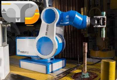 2016 Gold vector award won by Heavy-duty Oil Rig Robot at Hannover Messe