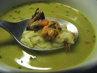 Recette de la soupe aux moules au curcuma