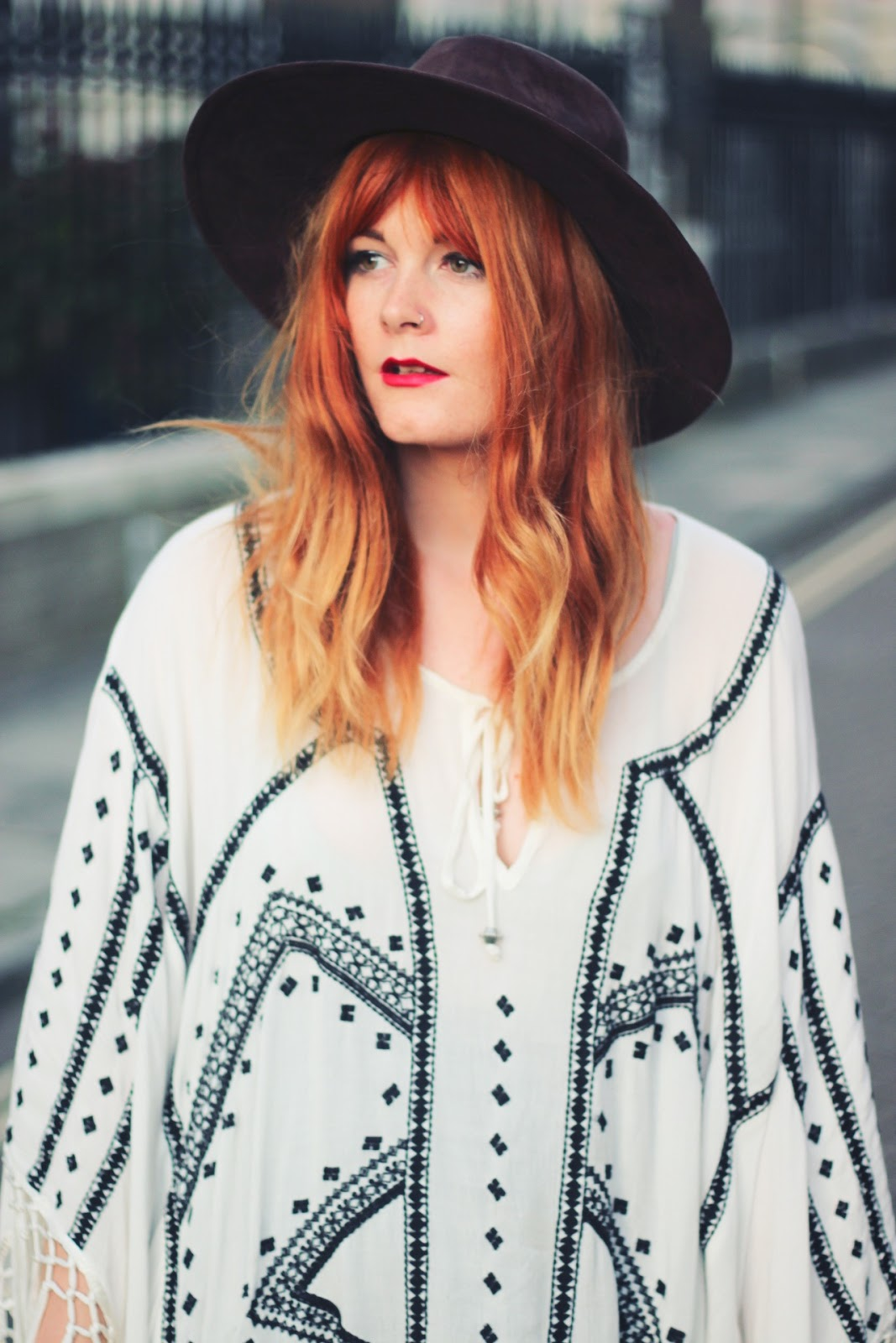 Oversized Embroidered Bohemian Poncho