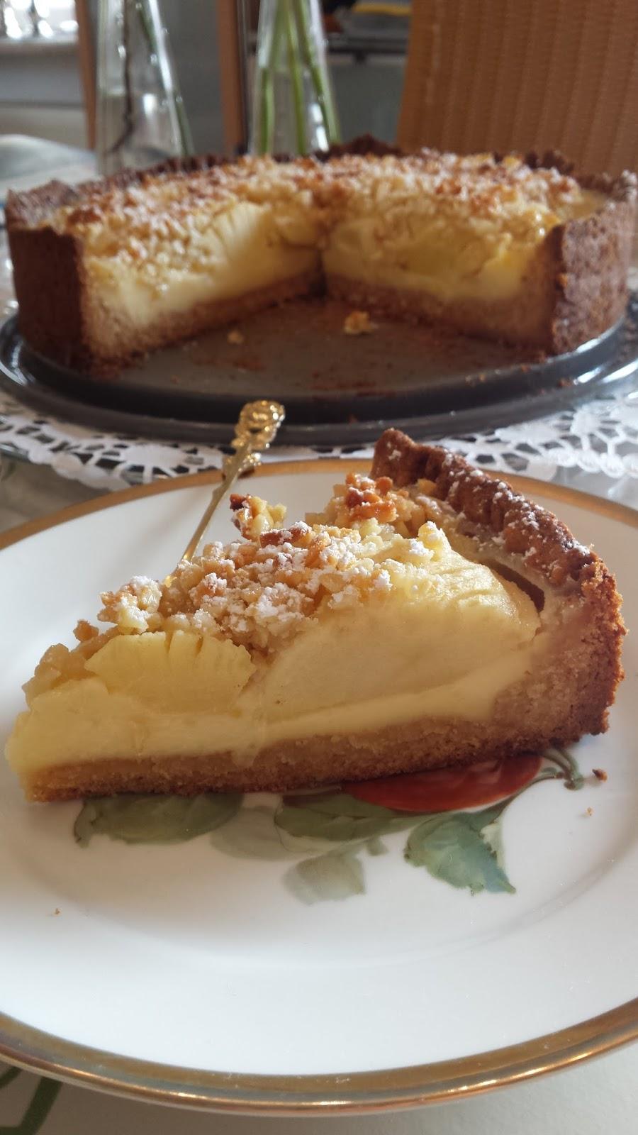 Eleonores Leckereien Apfel Marzipan Mandelkuchen