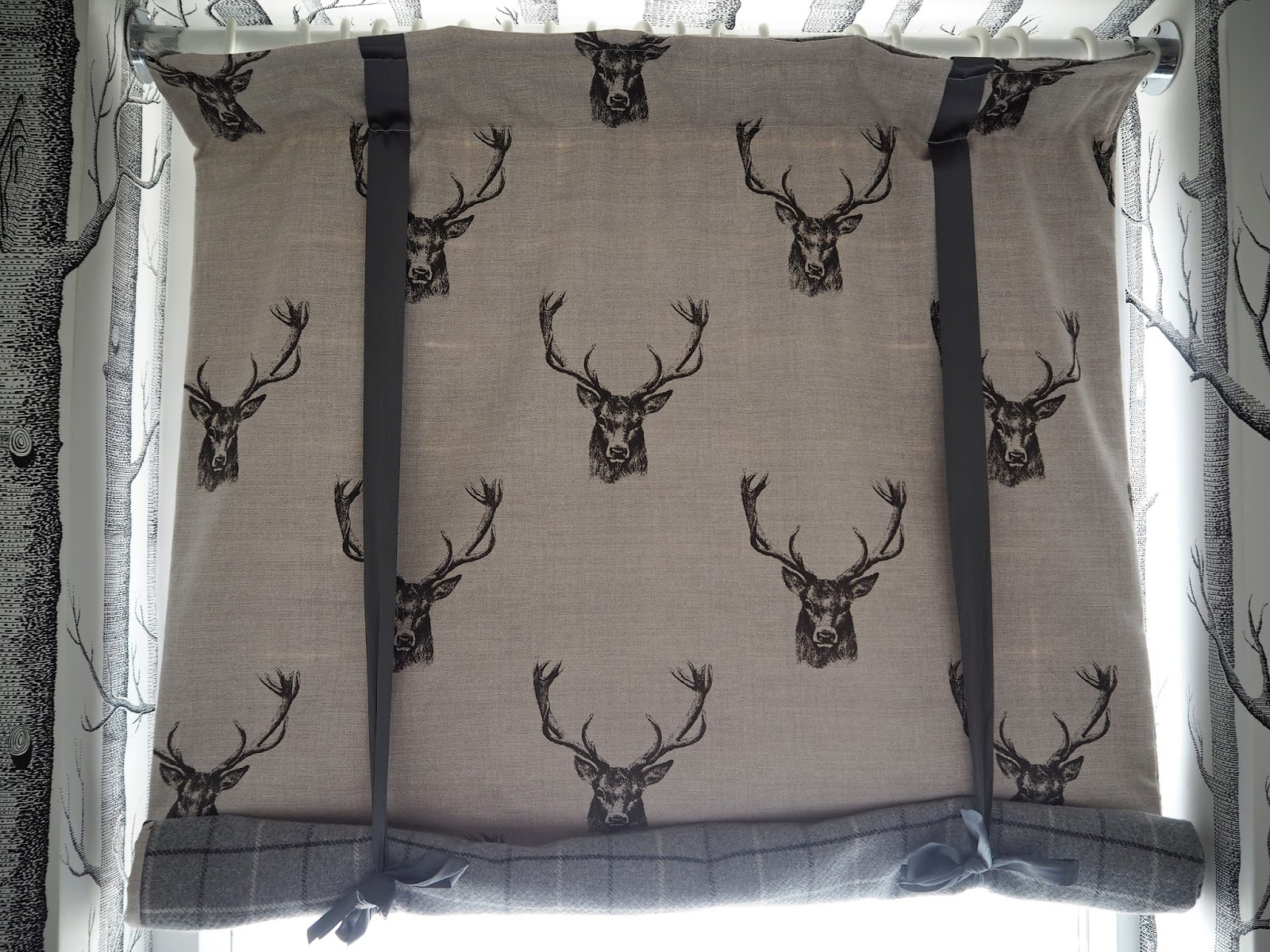 Stag blind in room suite 51, Stirk House, Gisburn