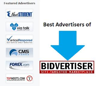 Premium advertisers of Bidvertisers