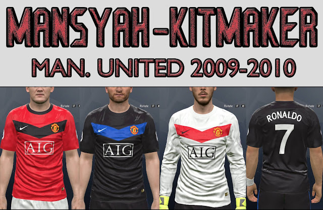 pes 2017 Man. United 09-10 kits with font UCL by mansyah