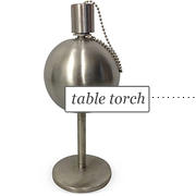 "10"" Globe Stainless Steel Table Torch via One Kings Lane"