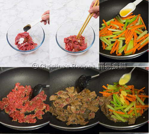 芥末牛肉製作圖 Beef Stir Fry with Mustard Sauce Procedures02