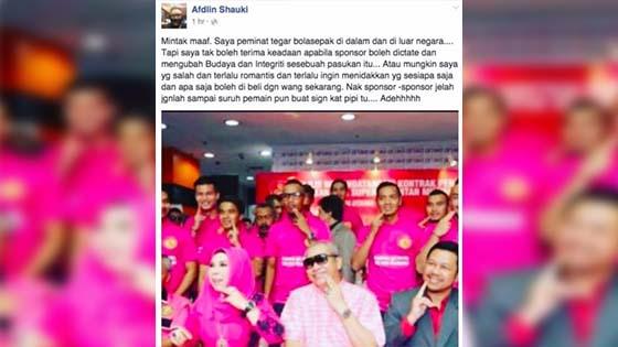 Afdlin Shauki tak puas hati Datuk Seri Vida ubah budaya pasukan Kelantan