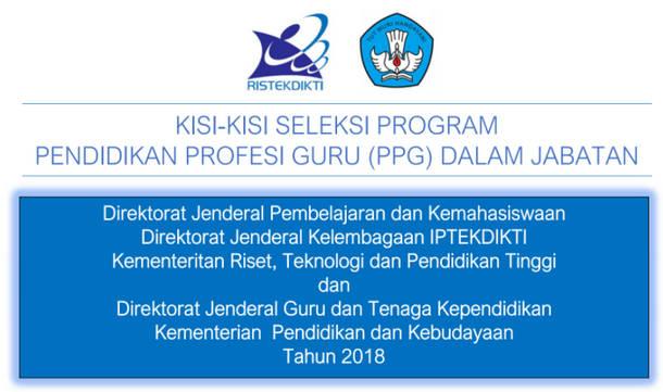 Kisi-Kisi Soal Pretest PPG 2018 PAUD, TK, SD, SMP, SMA, SMK PDF