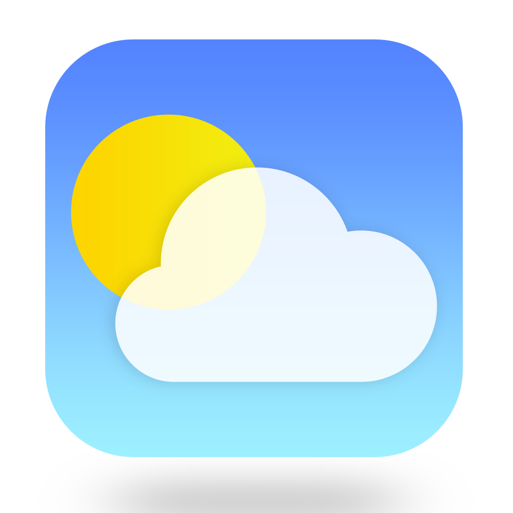 Weather App Icon For iOS App And Android App