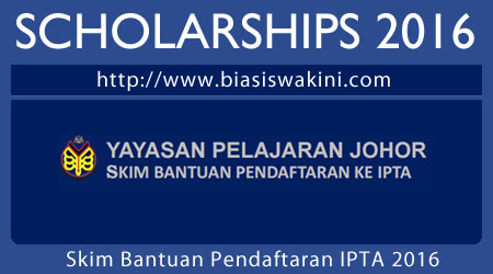Yayasan Pelajaran Johor Scholarship 2016