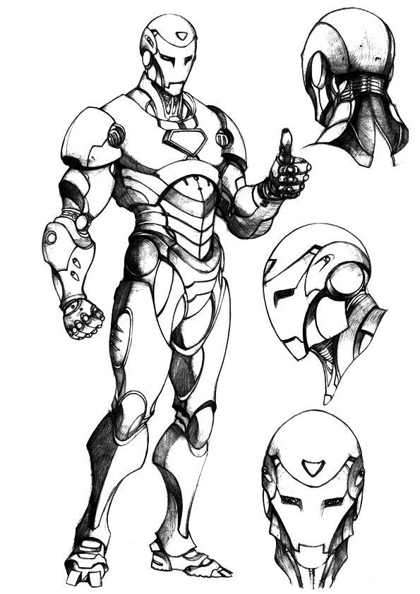 Kleurplaat New York Iron Man Coloring Pages Free Printable Coloring Pages