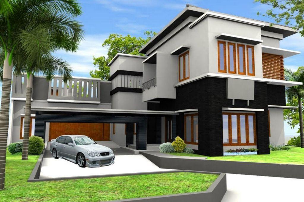model rumah tropis 1 lantai populer