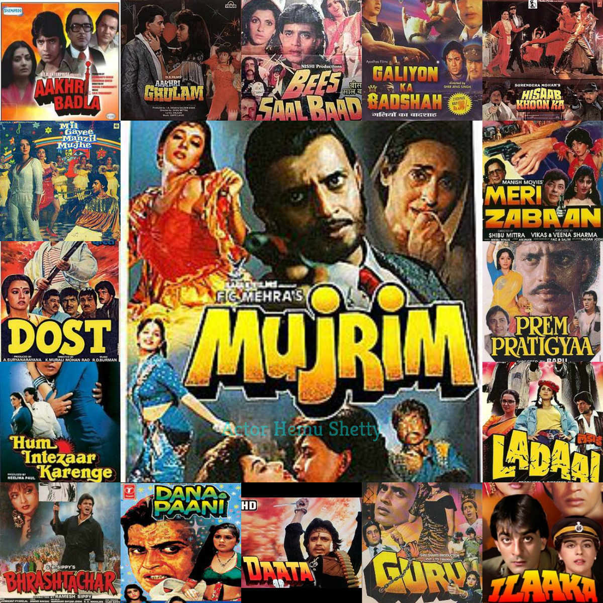Mithun Chakraborty As Hero Still Holds The World Record Of Maximum Film Releases For A Single Year Actor Hemu Shetty