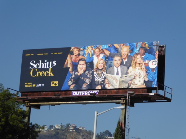Schitt's Creek season 3 billboard