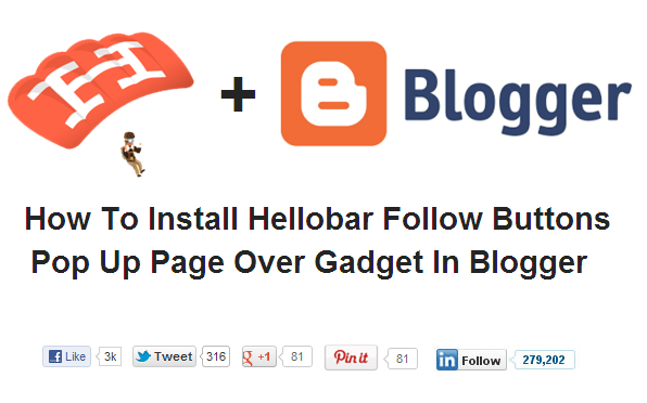How To Add Pop Up Page Take Over Follow Buttons In Blogger