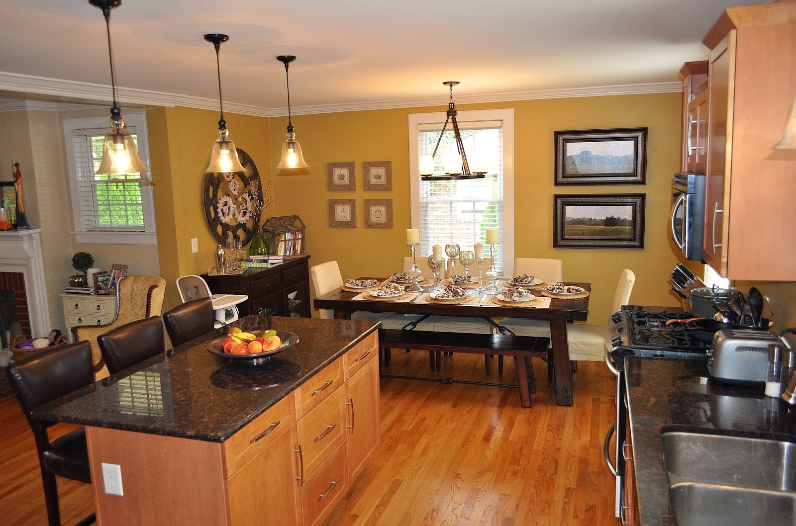 Lifestyle blog room by room house tour the kitchen dining area