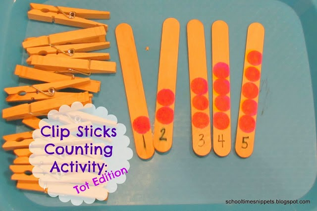 counting activity using clothespins