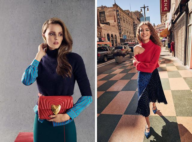 Красный + темно-синий в одежде