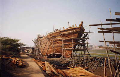 Boat making at Mandvi, Gujarat