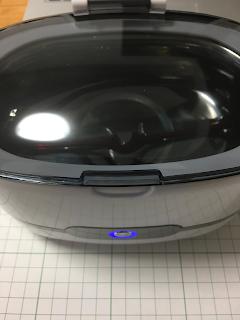 personal-α Ultrasonic cleaner 洗浄中