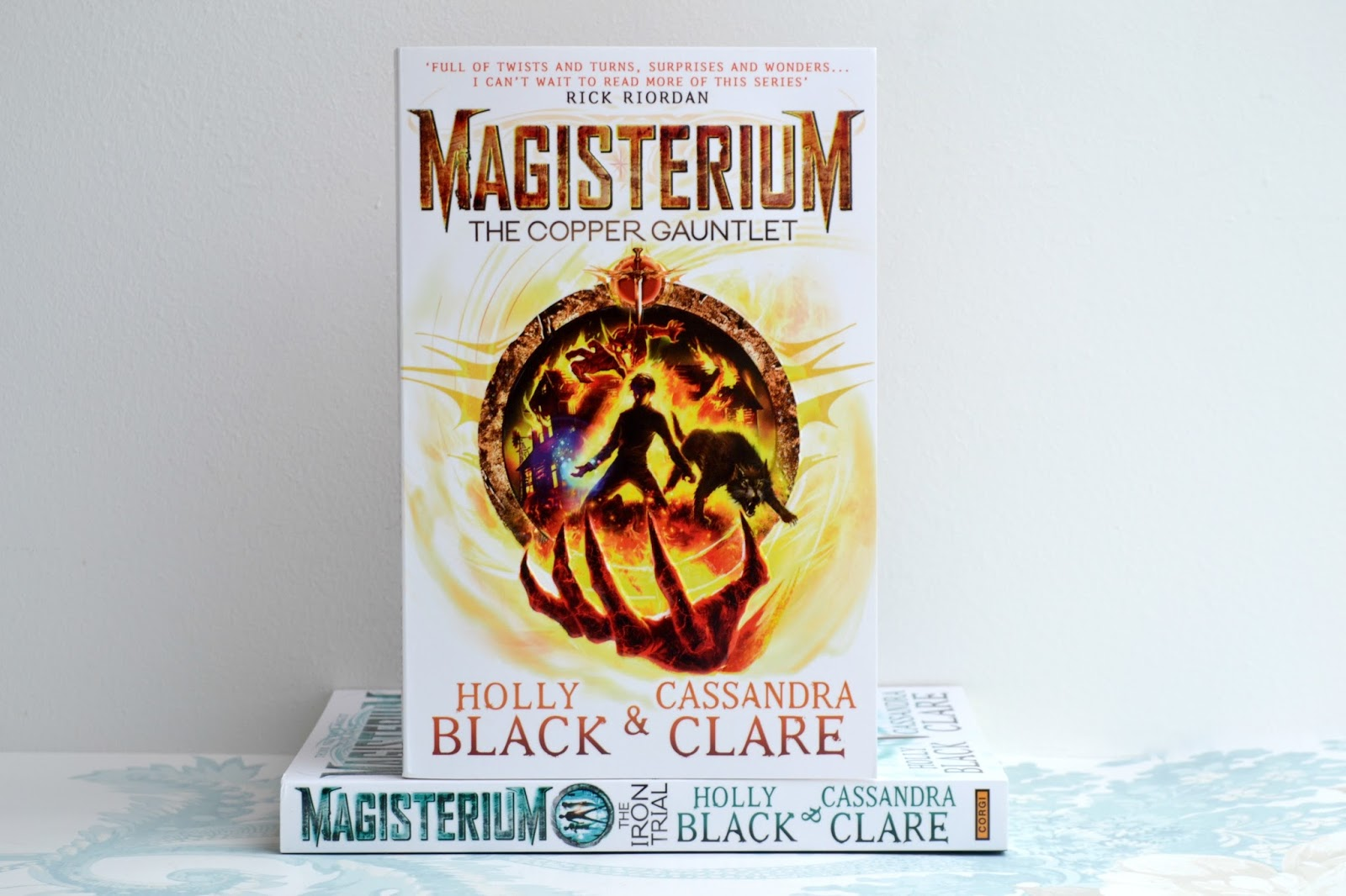 Magisterium: The Copper Gauntlet by Holly Black and Cassandra Clare. The second book in the Magisterium series.