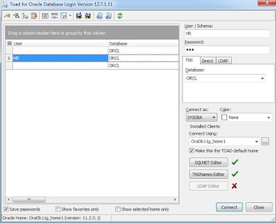 Oracle Database 11g'de HR Schema Veritabanı Kilidini Kaldırmak ve TOAD Bağlantısı Yapmak