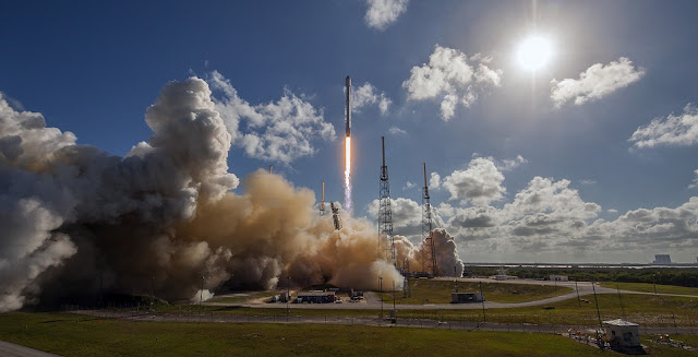 Thaicom 8 lifts off from Cape Canaveral Air Force Station's SLC-40 atop a SpaceX Falcon 9. Photo Credit: SpaceX
