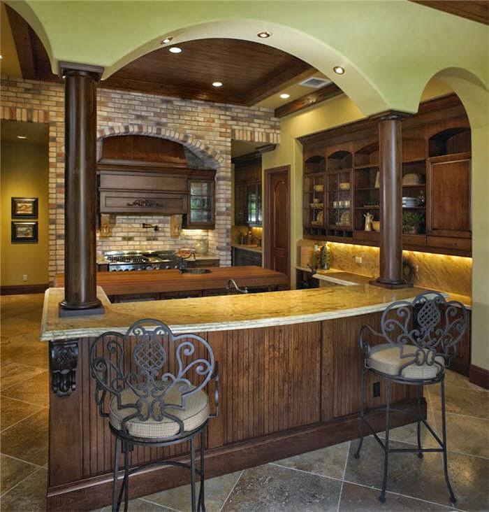 Modernes cuisines au style am ricain int rieur d cor - Decoration interieur americain ...