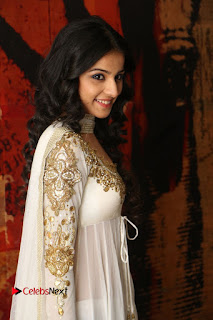 Telugu Actress Mahima Makwana Stills in White Desginer Dress at Venkatapuram Movie Logo Launch  0011.JPG