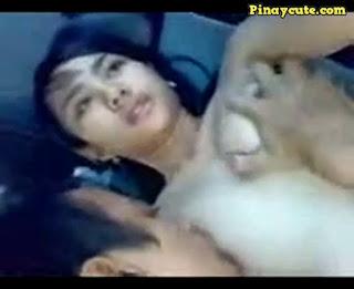 Pinay Cute na GF Kinantot sa Loob ng Sasakyan