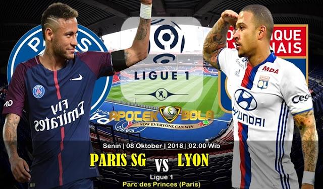 Prediksi PSG Vs Olympique Lyonnais 8 Oktober 2018