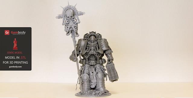 Warhammer40k Chaplain 3D design