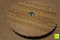 Fuß unten: Lumaland Cuisine Küchenrollenhalter aus Bambus mit Edelstahl Spitze, Ø ca. 14 cm x 32 cm
