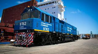 Llegaron al país dos nuevas locomotoras para el Plan Belgrano