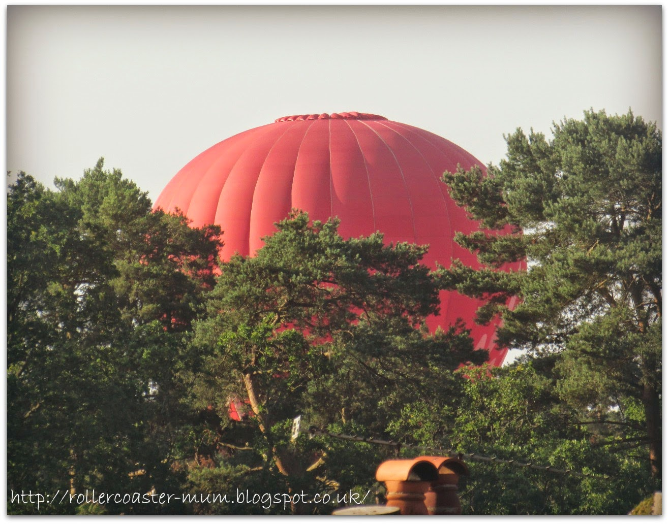 hot air balloon landing