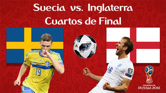 Suecia vs. Ingleterra - En Vivo - Online - Cuartos de Final - Rusia 2018