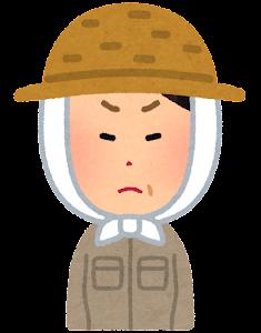 農家の女性のイラスト(怒った顔)