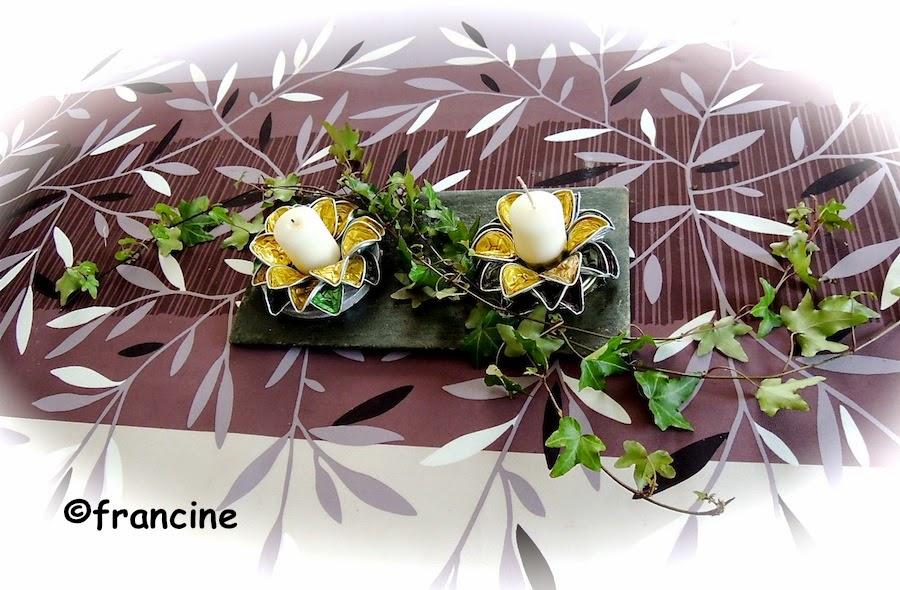 francine bricole jolie fleur support bougie de no l en capsules nespresso. Black Bedroom Furniture Sets. Home Design Ideas