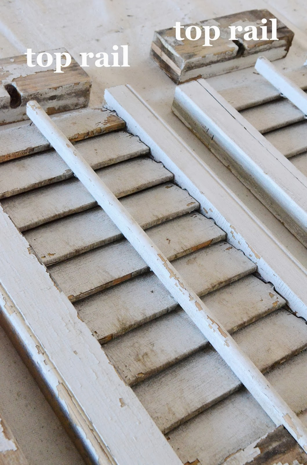 HOW TO RESIZE OLD CHIPPY SHUTTERS - StoneGable