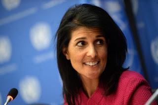 U.S. ambassador to the UN, Nikki Haley