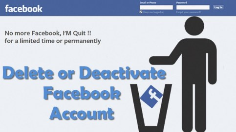 Deactivate or Delete FB Account