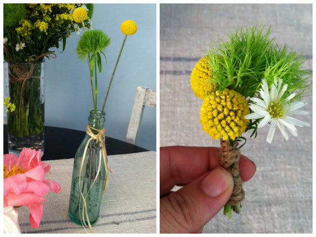 DIY billy button crespedia floras boutonniere